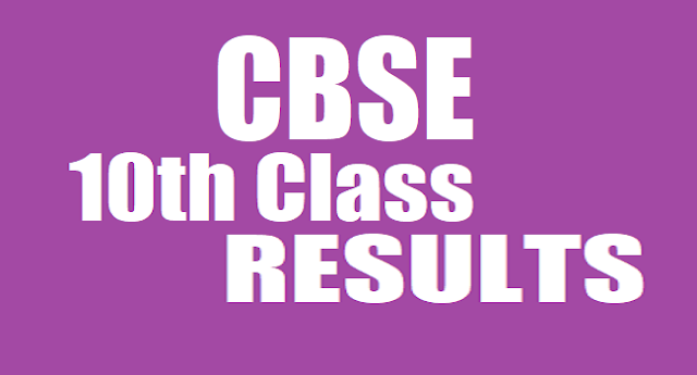 CBSE Results,10th Class Results, Class X Results