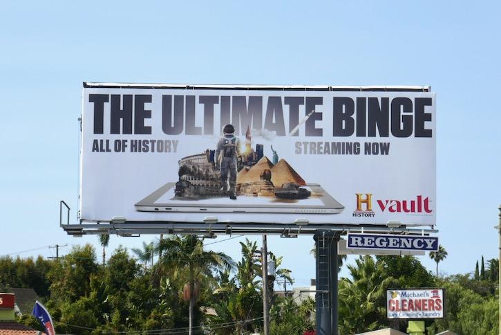 Ultimate Binge History Vault billboard