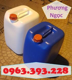 Can nhựa HDPE nguyên sinh, can nhựa 30 Lít vuông, can đựng hóa chất 30L 30e73b0bc8d8318668c9