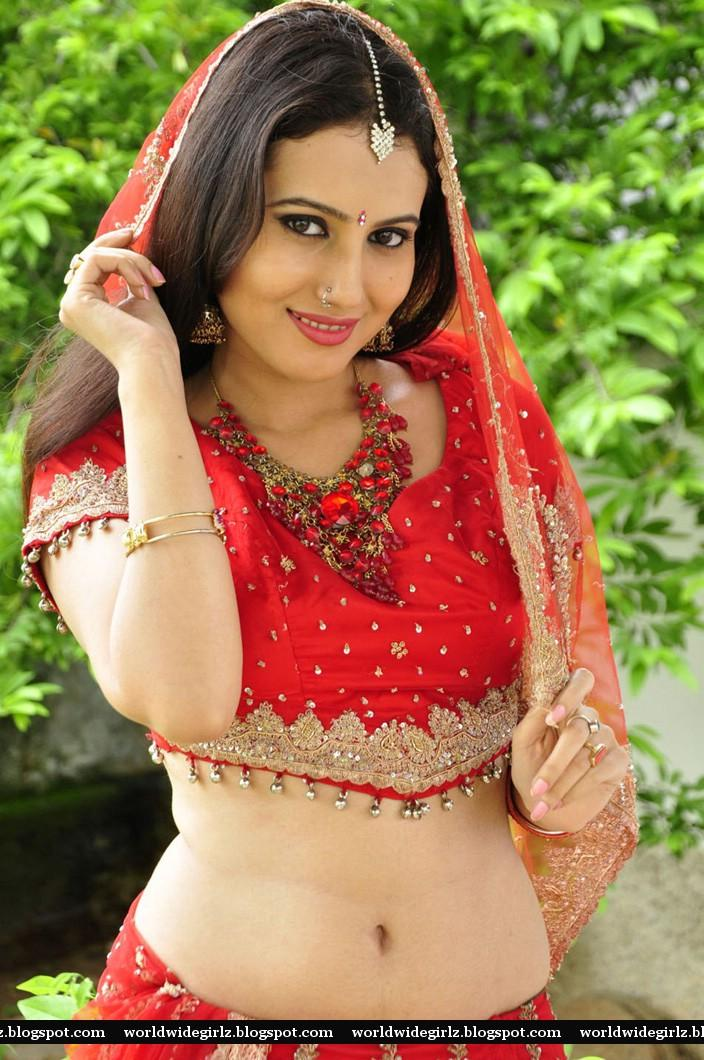 Actress Anu Smrithi Hot Navel Show In Red Dress Sexy Pictures-2075