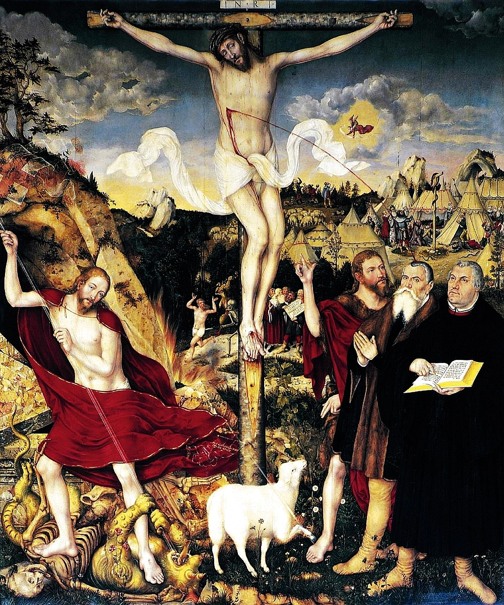 Cranach's Weimar altarpiece illustrating Proverbs 25:2