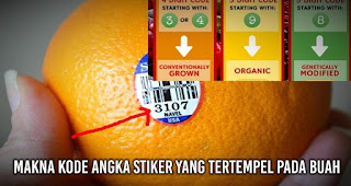 makna kode angka stiker yang tertempel pada buah yang wajib Anda ketahui