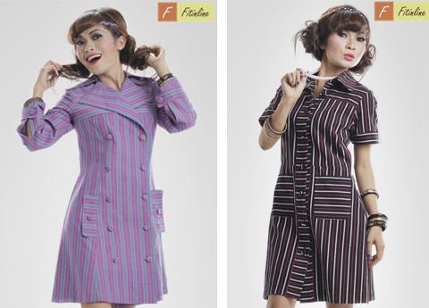 model baju lurik wanita untuk kerja