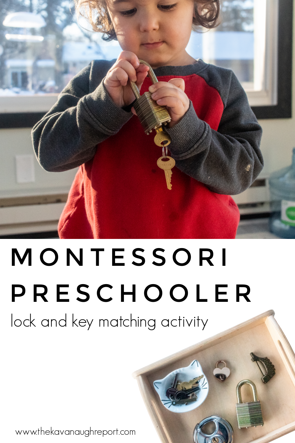 This simple Montessori activity is perfect for 3-year-olds and 4-year-old for a practical life shelf. A simple fine motor activity that kids love.