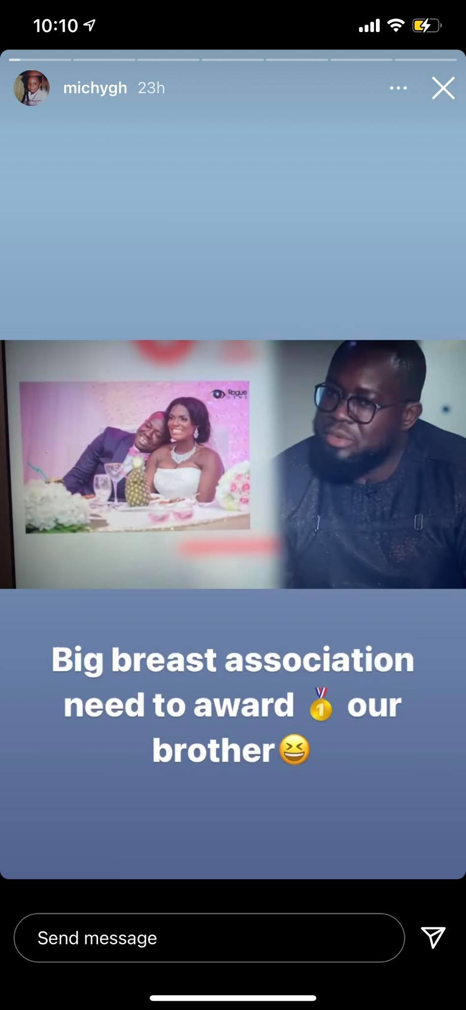 151966123 435129727704371 7593117274102392952 n - Shatta Michy reacts to Giovanni Caleb's statements that he loves big breast