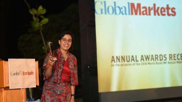 Sri Mulyani Sabet Penghargaan Menteri Keuangan Terbaik