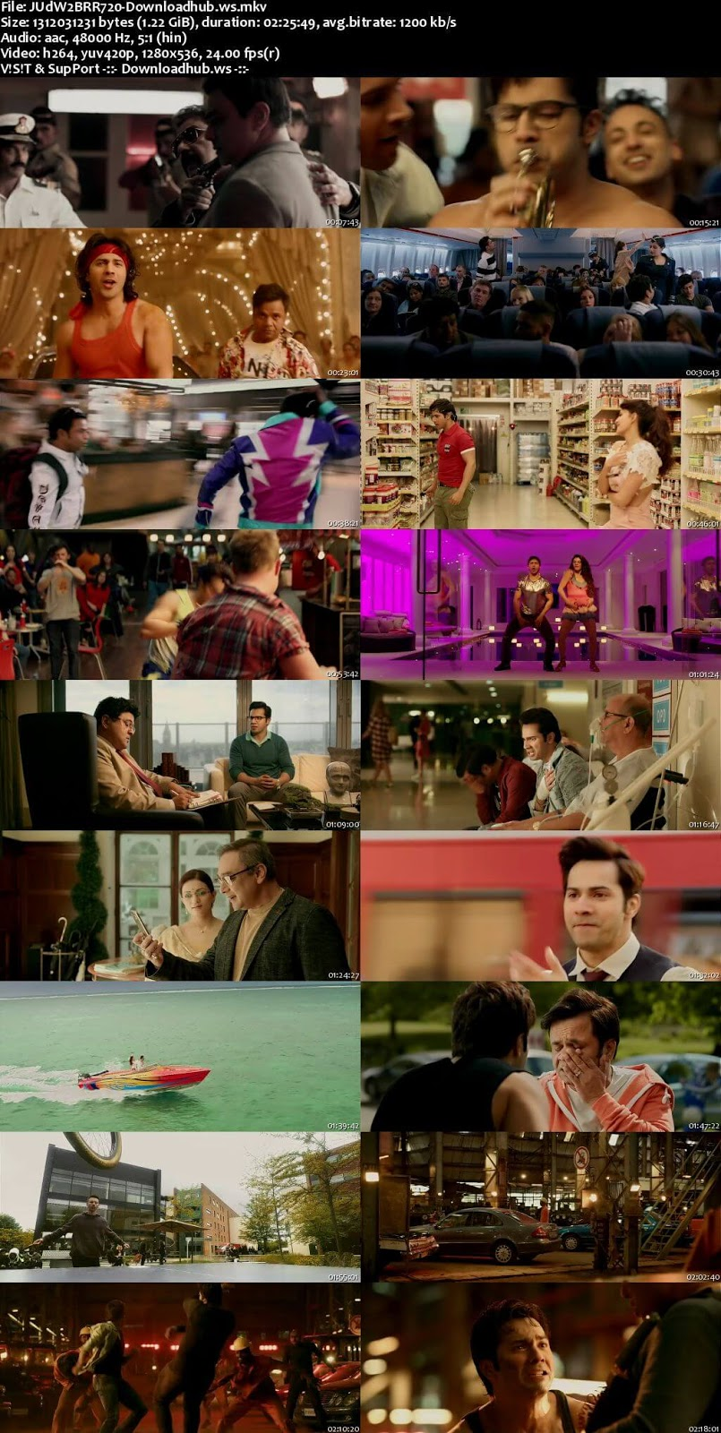 Judwaa 2 2017 Hindi 720p BluRay ESubs
