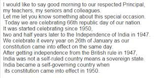 Welcome Speech On Republic Day