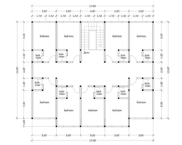 Boarding house plan 07