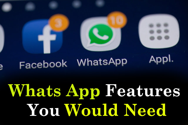 whatsapp features you would need to try