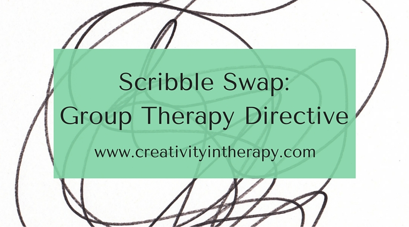 Scribble Drawing In Art Therapy : Scribble swap art directive for group therapy