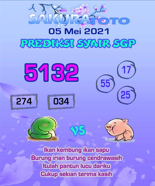 Syair Sakuratoto SGP Rabu 05 Mei 2021