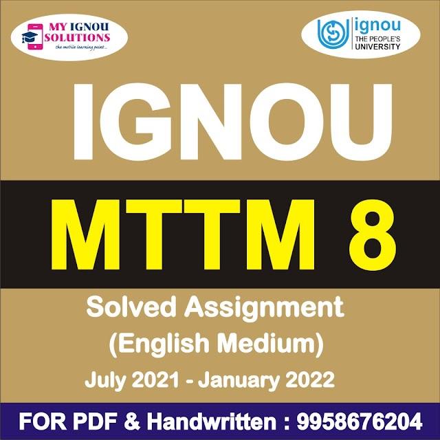 MTTM 8 Solved Assignment 2021-22