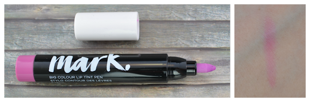 Avon mark big colour lip tint pen fuchsia und Swatch