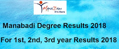 Manabadi Degree Results 2018, Schools9 Degree Results 2018, Manabadi 1st, 2nd, 3rd year Results 2018