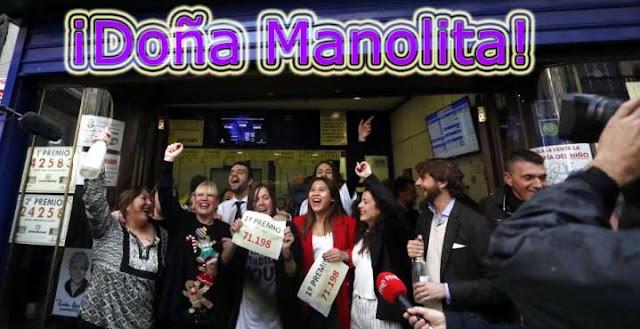 El premio gordo cae otra vez en Dona Manolita