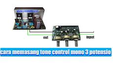 cara memasang tone control mono 3 potensio