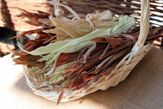 заготовки из кукурузных листьев