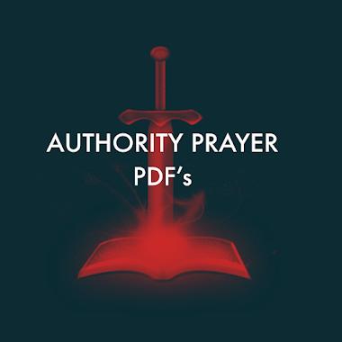 Authority Prayer PDF's