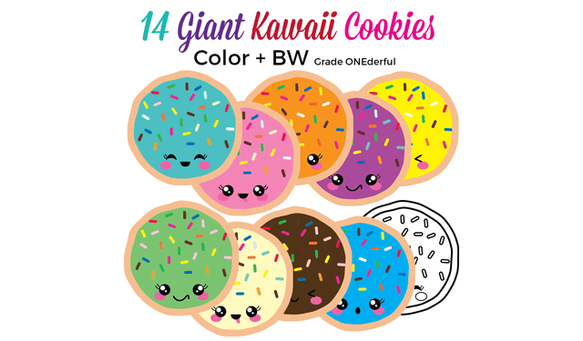 Kawaii Cookies Clipart