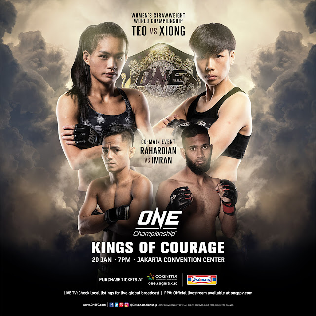 ONE KINGS OF COURAGE Teo Vs Xiong is set for 20 January 2018