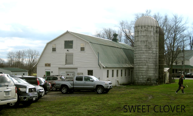 A farm converted into a thrift and antique shopping space with parking