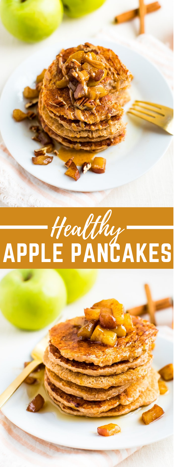 Healthy Apple Pancakes #healthyrecipe #breakfast