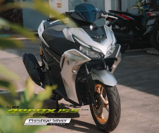 Warna Prestige Silver All new AEROX 155 Connected ABS