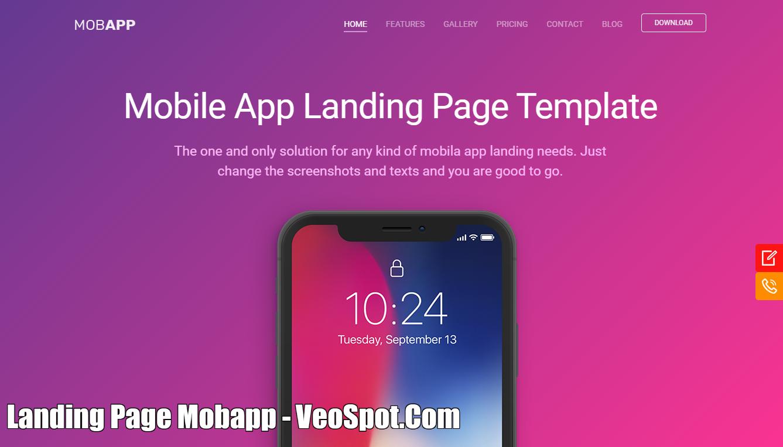 Landing Page Mobapp Blogspot Đẹp Chuẩn SEO