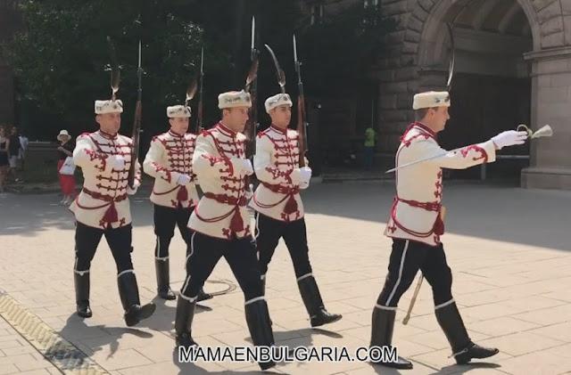 cambio de guardia del palacio presidencial Sofía Bulgaria