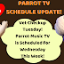 Parrot Music TV Schedule Update!
