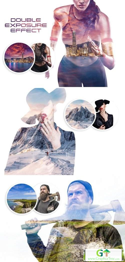 Double Exposure Photo Effect Mockup[Photoshop][Action][385078859]