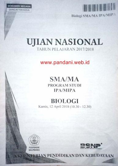 Soal Un Biologi Dan Pembahasan : biologi, pembahasan, Pembahasan, Biologi, Tahun, (Paket, Pandani