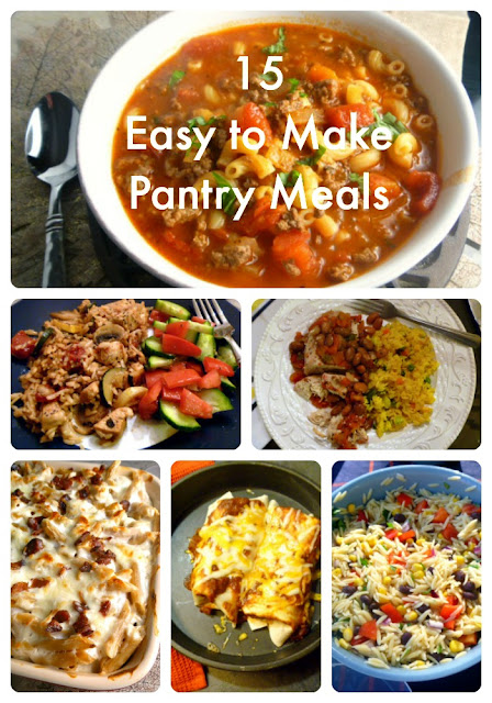 15 Easy to Make Pantry Meals - using pasta rice and beans you can make fabulous flavorful meals! - Slice of Southern