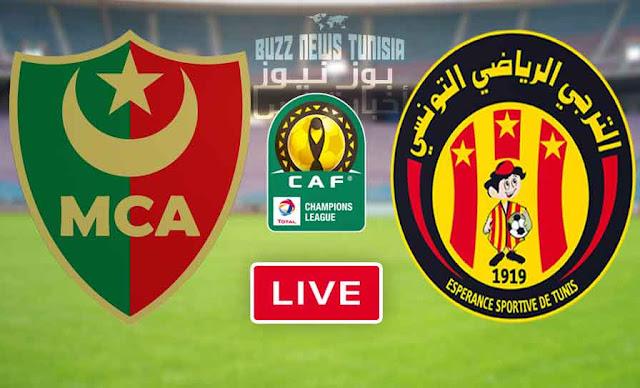 Watch Match esperance sportive de tunis vs Mouloudia Club d'Alger Live Streaming