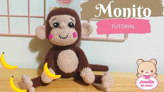 Hermoso Mono Amigurumi Tejido a Crochet