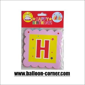 Bunting Banner HAPPY BIRTHDAY Segiempat Colorful