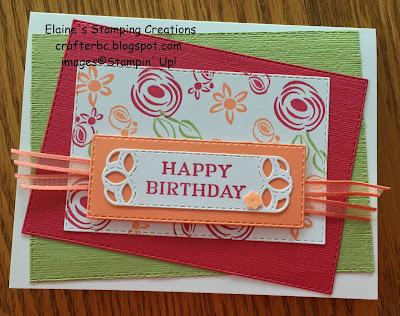 Stampin' Up! Perennial Birthday Card