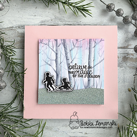 Believe in the magic of the season by Bobbi features Winter Memories by Newton's Nook Designs; #newtonsnook