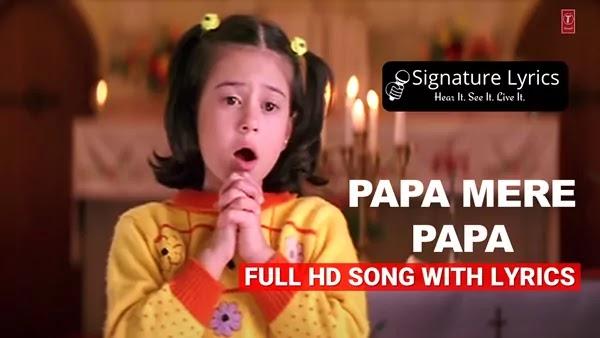 Papa Mere Papa Lyrics - Sonu Nigam - Shreya Ghoshal - Main Aisa Hi Hoon