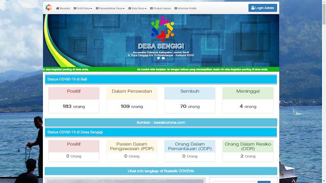 Tampilan Standart Web Sistem Informasi Desa