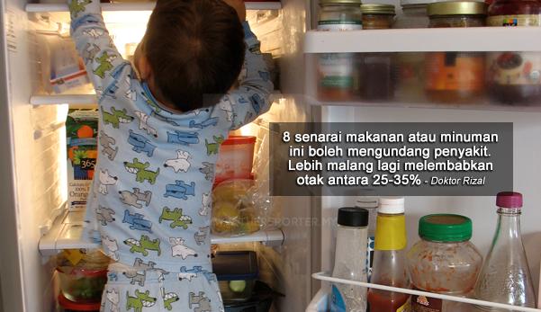 Elakkan 8 jenis makanan/minuman yang boleh undang penyakit ini disimpan dalam peti sejuk