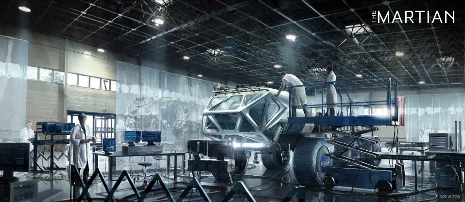Concept art for The Martian - rover back on Earth