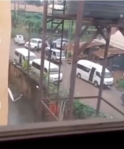 See The Moment Cultists Chased Away EFCC Operatives During A Raid In Imo State (Videos)