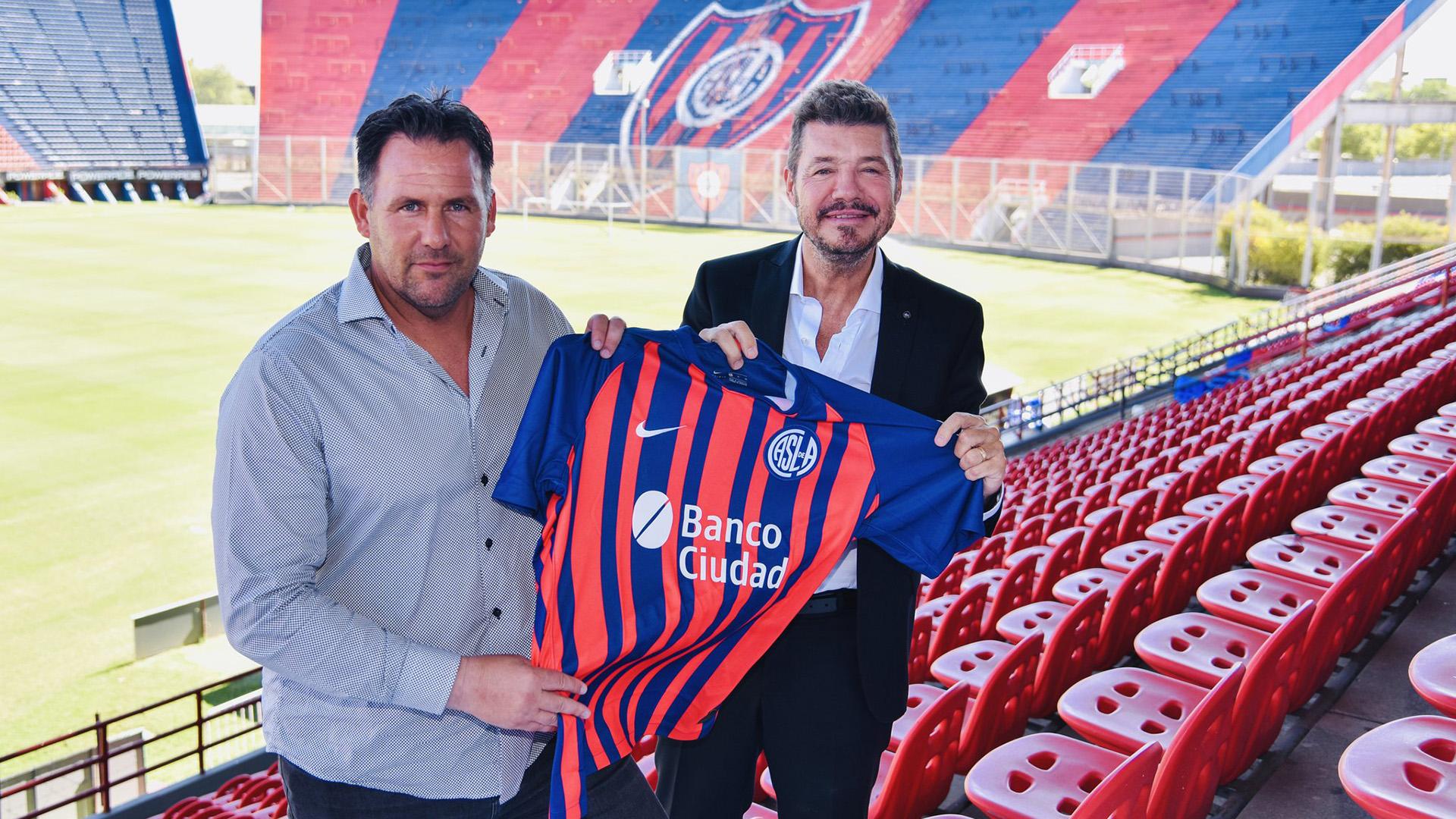 Diego Dabove fue presentado oficialmente como nuevo entrenador de San Lorenzo