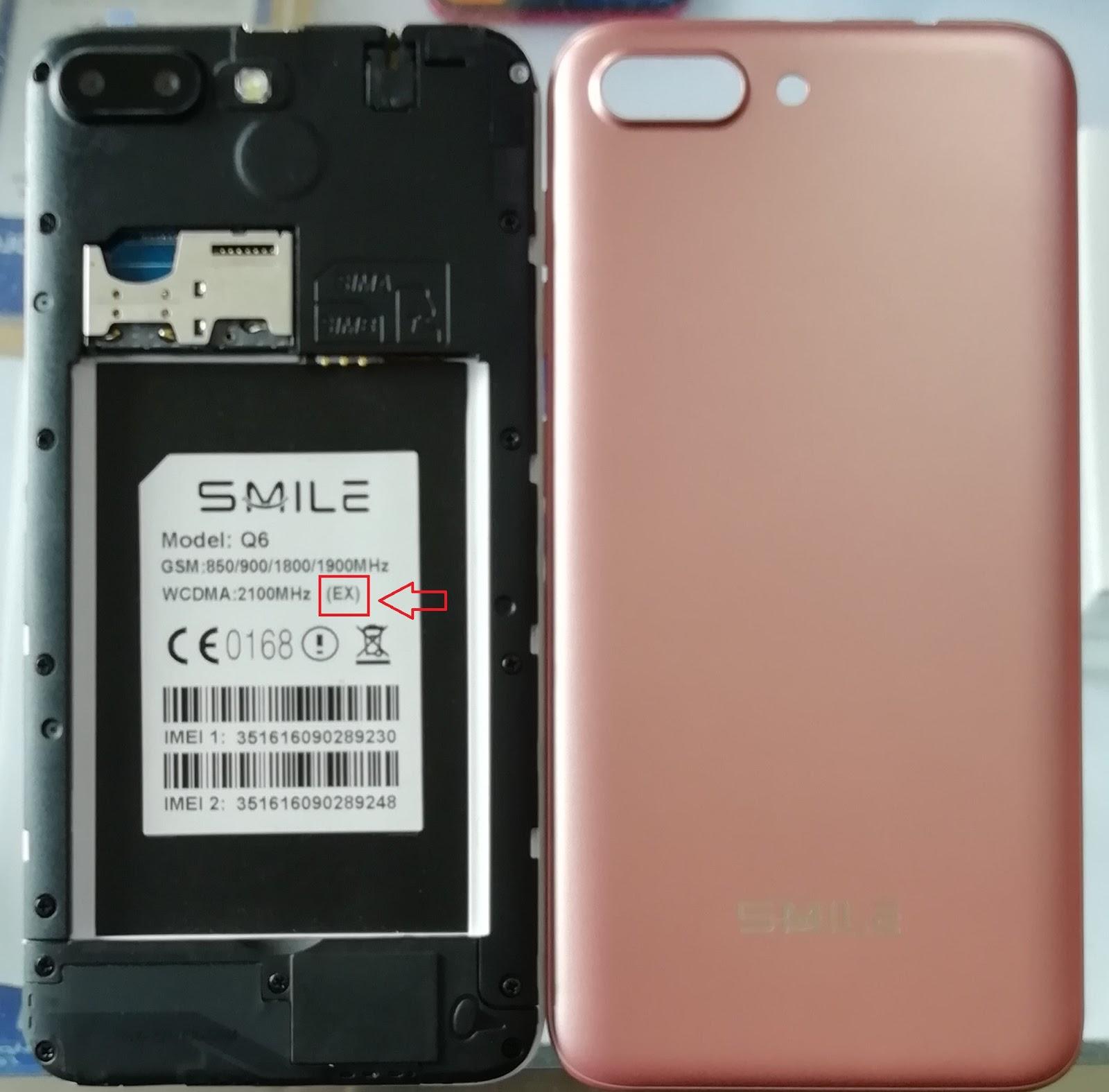 FAISAL GSM: Smile Q6 Flash File Firmware EX MT6572 6 0