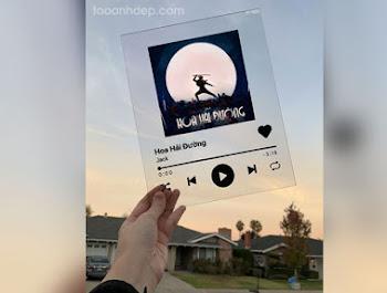 Tạo ảnh bài hát trong khung kính trong suốt tuyệt đẹp