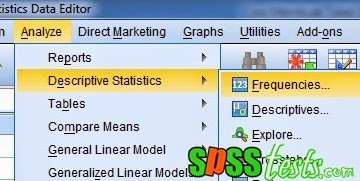 How to Make a Frequency Distribution Table Data Using SPSS