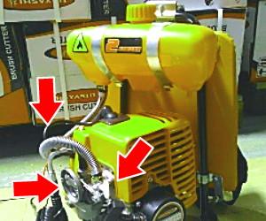 gas mesin potong rumput tidak stabil