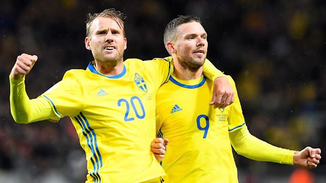 Marcus Berg marcó 4 tantos en la goleada de su equipo, la mayor desde 1938, con la que Holanda queda fuera de Rusia 2018